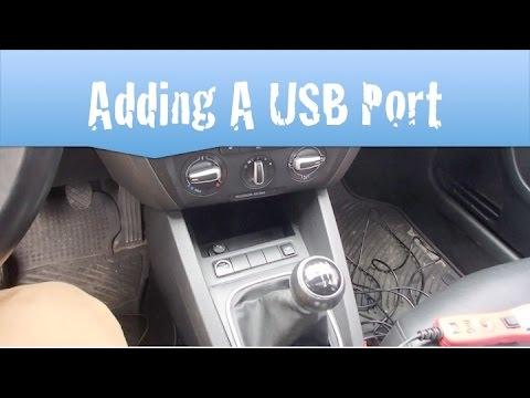 Jetta MK6 Mod Hard Wiring A USB Port   YouTube