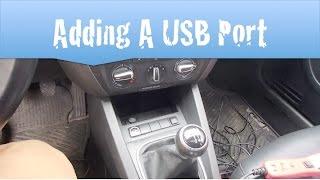 Jetta MK6 Mod Hard Wiring a USB Port
