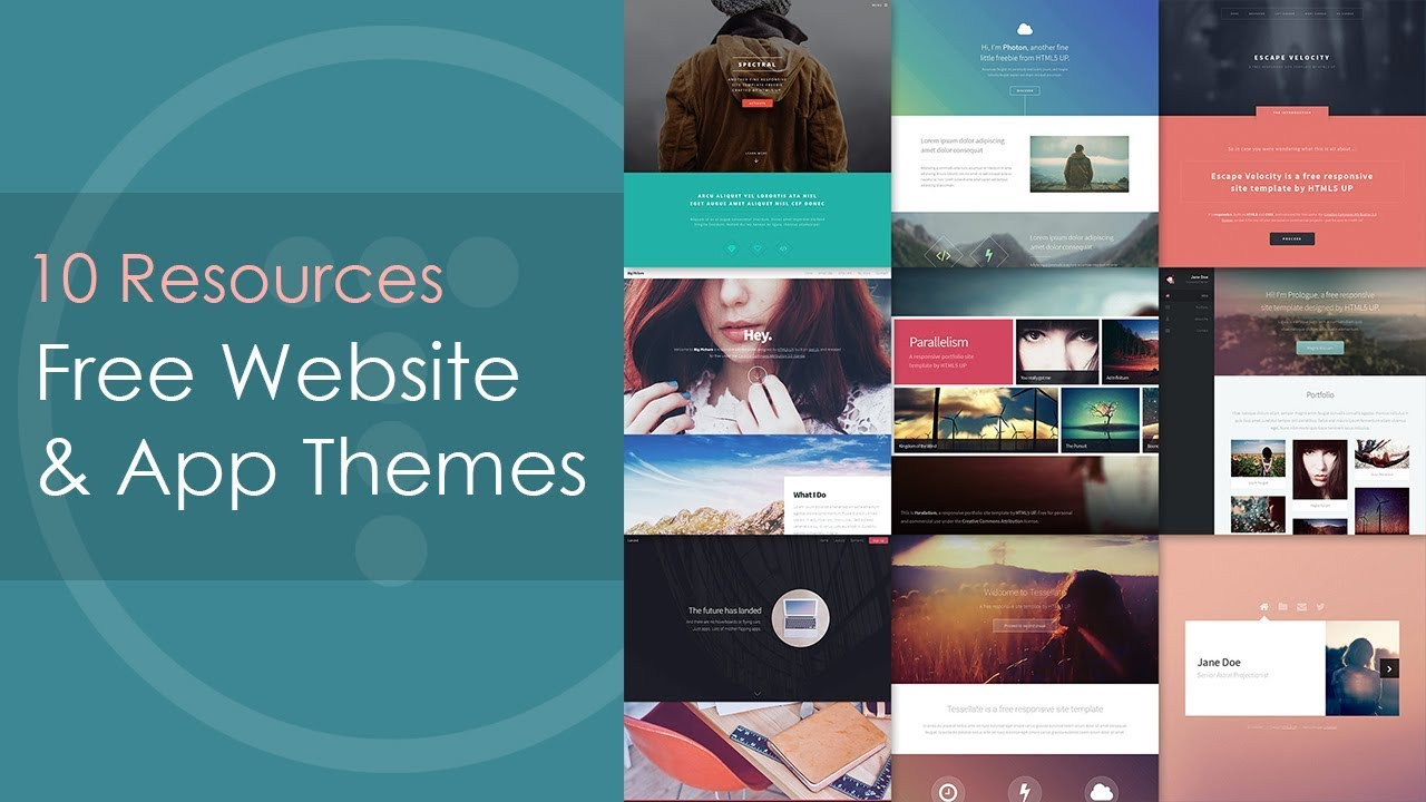 10 Resources For Free Website & Web App Themes