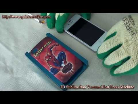 7aa4c20f7 How To Print On Phone Case with 3D Heat Transfer Machine (Training Video) -  YouTube