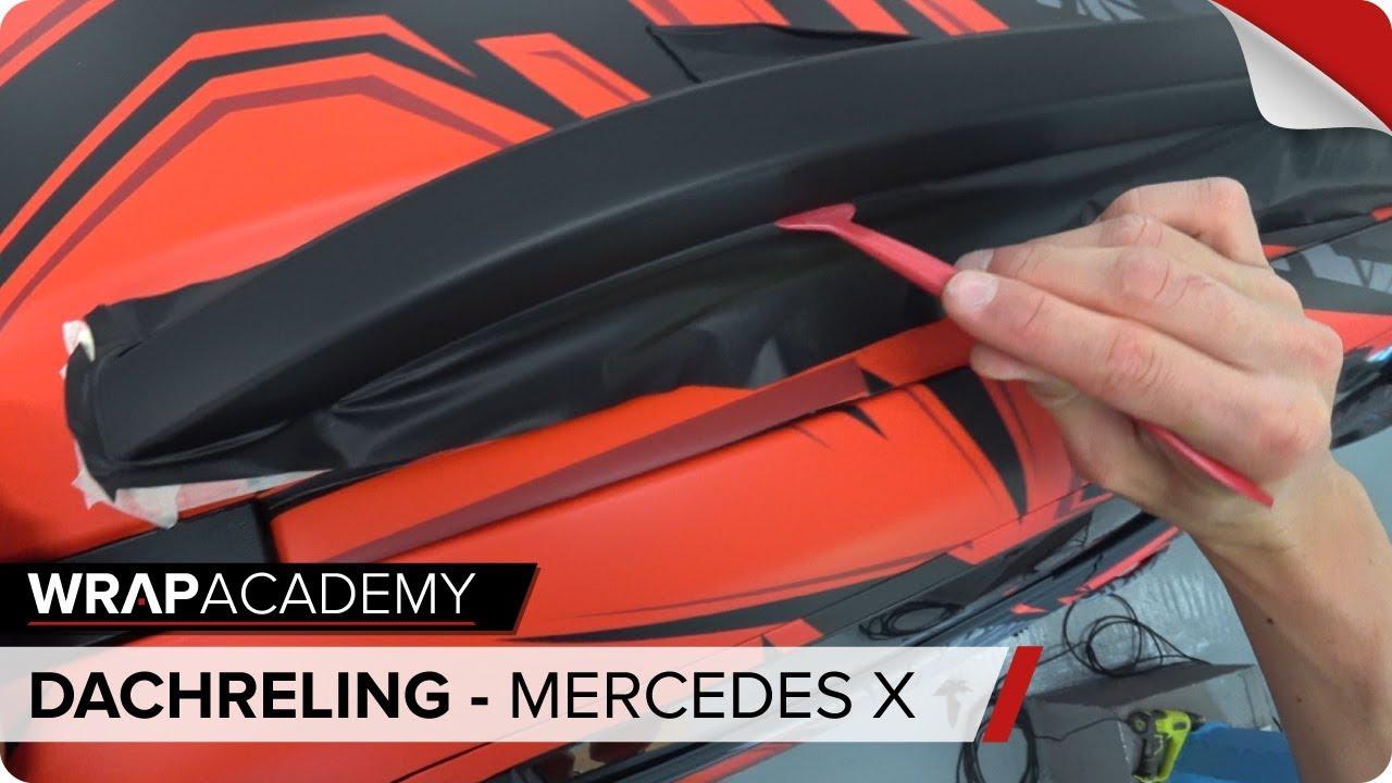 Dachreling Folieren Mercedes X Klasse Youtube