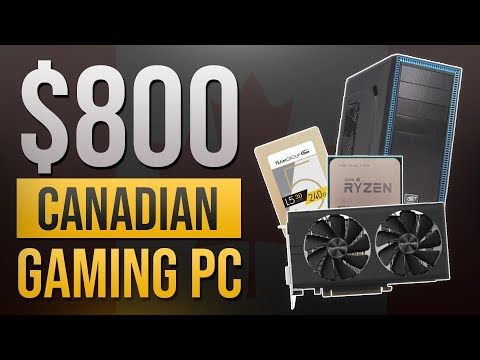 FAST $800 Canadian Gaming PC Feat. Ryzen 5 2600/RX 580 (2019) | Game And Edit At 1080p Max 60FPS!