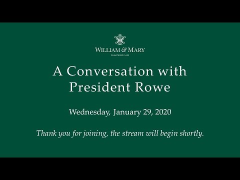 A Conversation with President Rowe