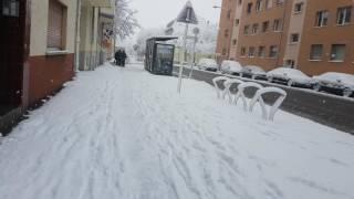 winter 2016 in Frankfurt / Germany 4k