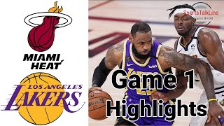 Heat vs Lakers HIGHLIGHTS Full Game | NBA Playoff Finals Game 1
