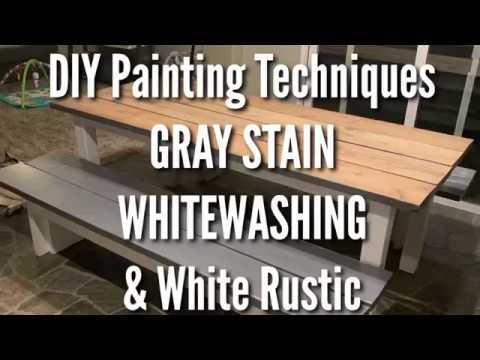 DIY GRAY STAIN & WHITE WASH