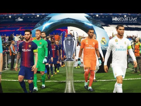PES 2018 | REAL MADRID vs FC BARCELONA | Final UEFA Champion