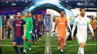 PES 2018 | REAL MADRID vs FC BARCELONA | Final UEFA Champions League | Penalty Shootout