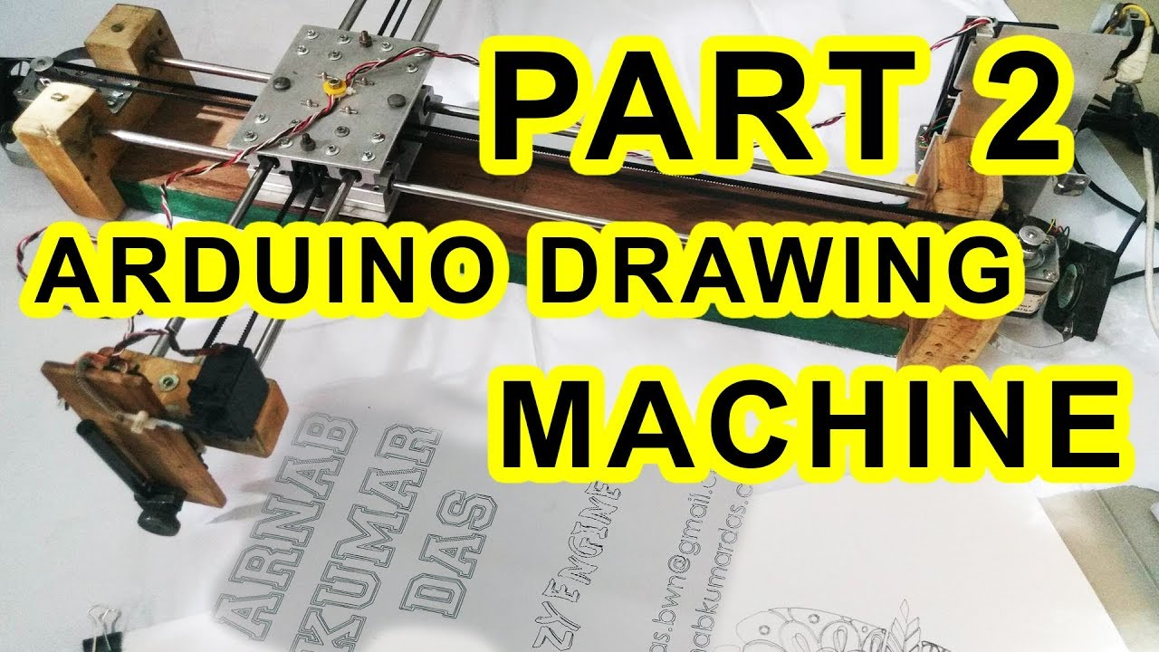 Crazy Engineer's Drawing Robot / Arduino GRBL CoreXY Servo