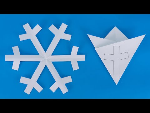 How to make snowflakes out of paper | Cutting snowflakes out of paper very fast