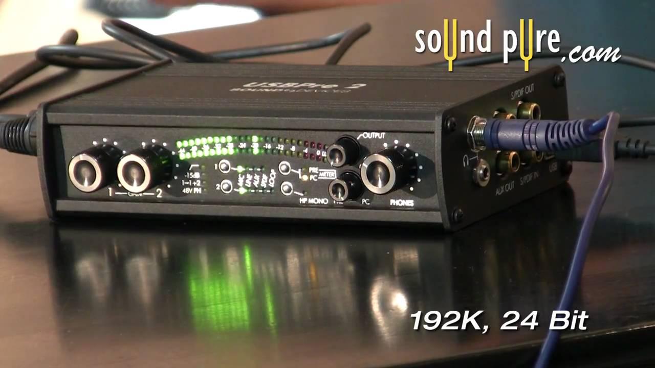 SOUND DEVICES USBPRE 2 AUDIO DRIVERS WINDOWS