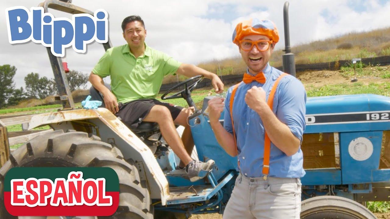 🌾 Blippi aprende sobre una alimentación saludable en la granja 🌾 | compilation | learn with Blippi