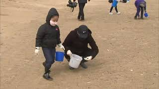 Volunteers clean up Montrose Beach litter ahead of piping plover season