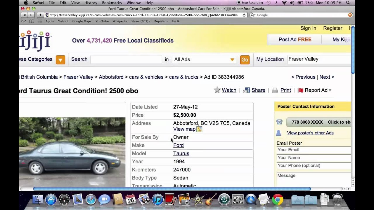 Kijiji Fraser Valley BC - Used Cars For Sale By Owner Under $2000 ...