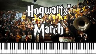Synthesia [Piano Tutorial] Hogwarts' March - Harry Potter and The Goblet Of Fire