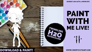 Paint With Me Live Sundays @ Noon