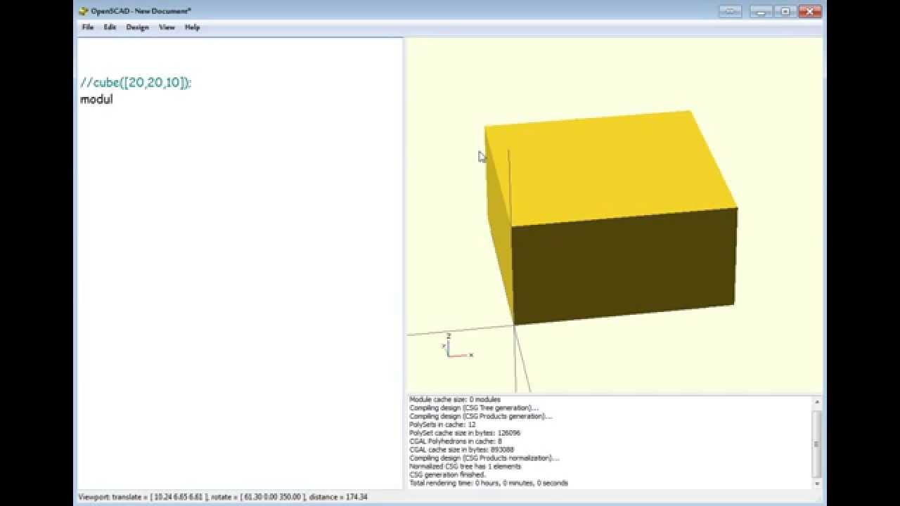 Openscad: how to do a cube with round corners ( Hull )