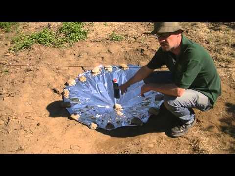 Purificando água com Refletor Solar
