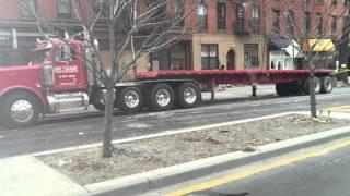 Idling trucks on Vanderbilt