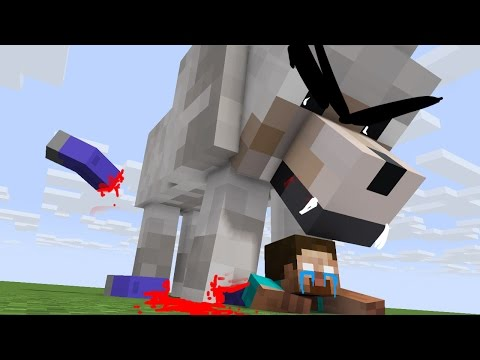 Wolf Life - Zombie Life - Minecraft Top 5 Life Animations