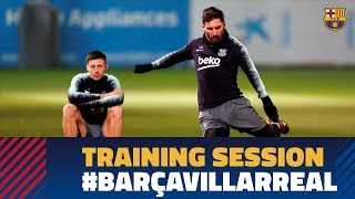 Last workout before the match against Villarreal