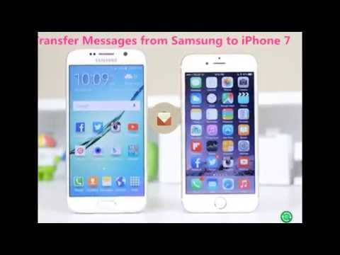 samsung to iphone transfer how to sync sms from samsung galaxy to iphone 7 16050