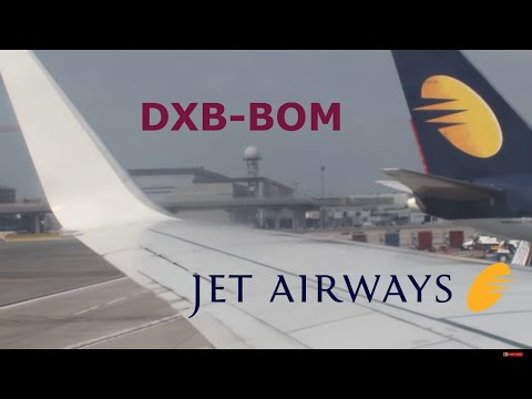 Jet Airways 737-800 takeoff from Dubai. DXB-BOM