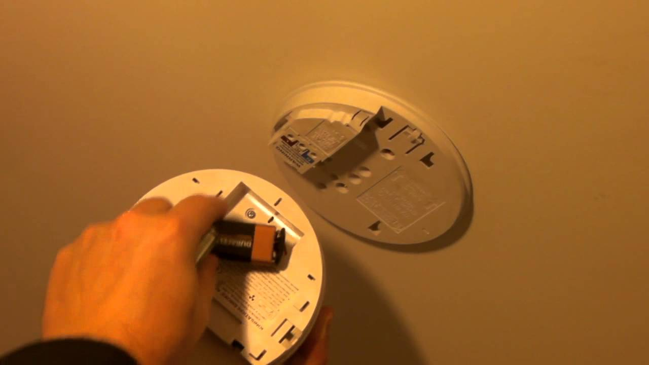 Mains smoke alarm battery replacement