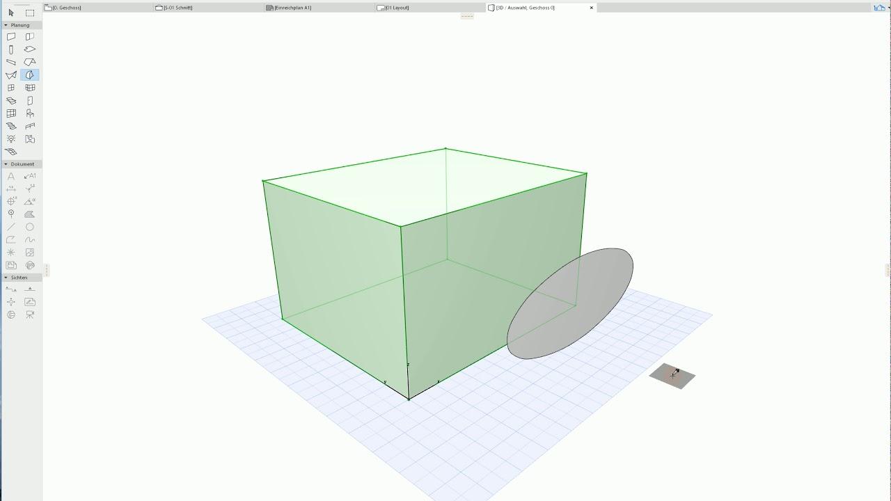 Archicad 22 Tutorial elliptical form on a morph surface