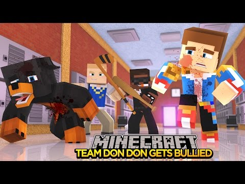 Minecraft - Donut the Dog Adventures -TEAM DONDON BULLIED BY TWO BULLIES!!