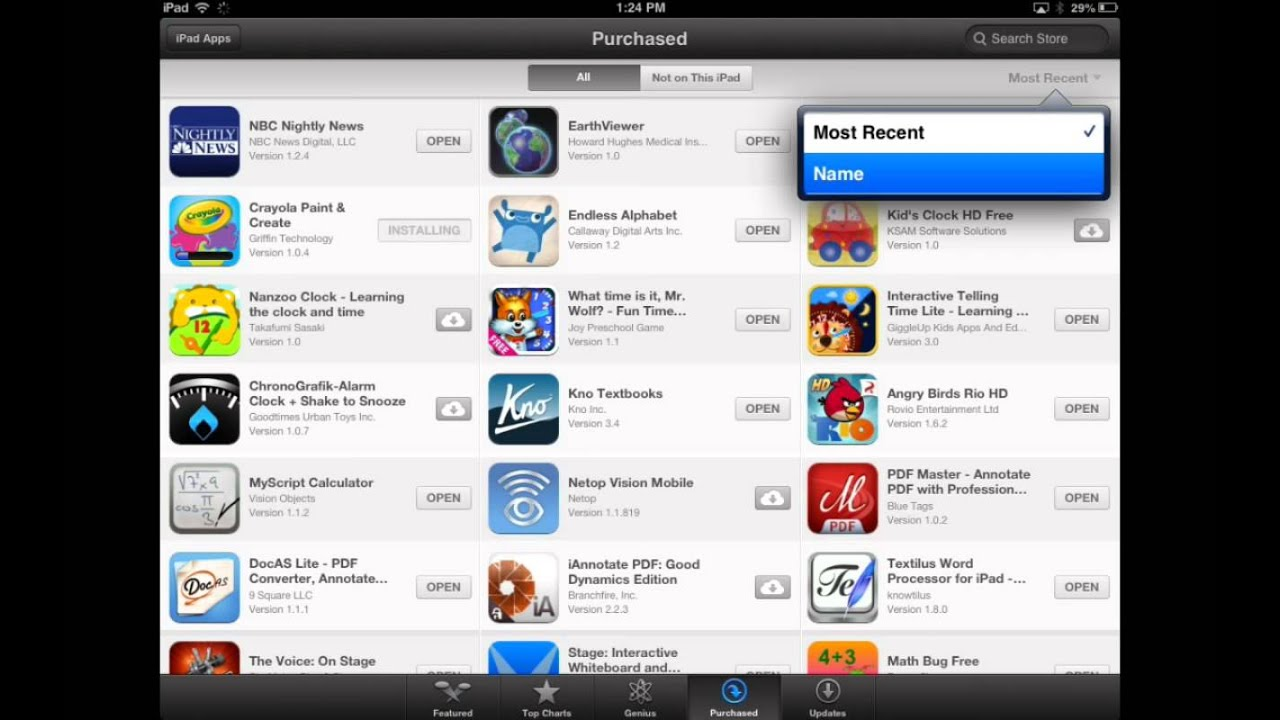 Part 4: App Store Exploration  Purchased