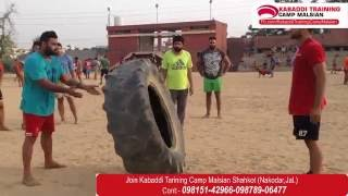 Kabaddi Training Camp Malsian Workout.Video#01