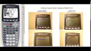 Gambar cover Classic MODE VS MathPrint MODE