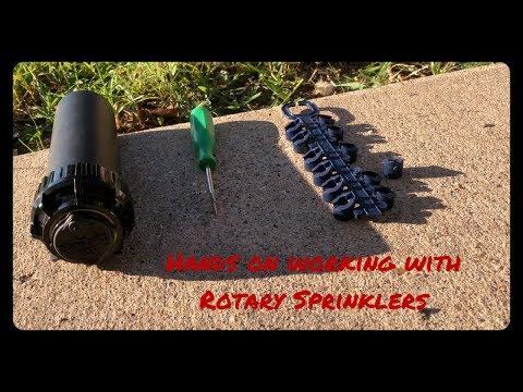 How To Adjust Rain Bird 5000 Or Toro Rotary Sprinklers | Setting Left Stop | How To Adjust Spray |