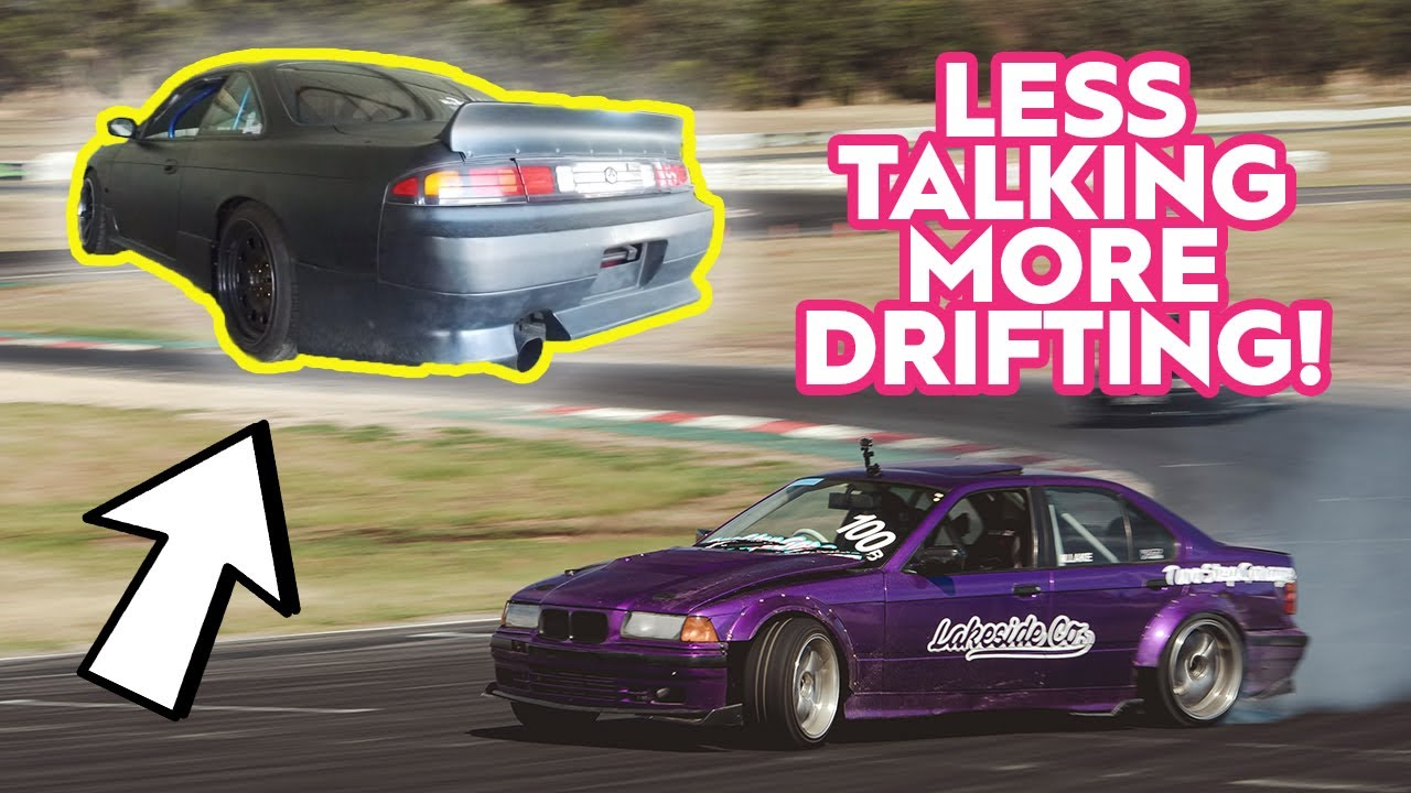 DRIFTING THE CLUTCH KICK JUNKIES RB25DET S14! (AND MY E36!)