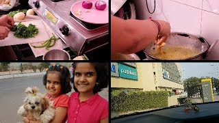 SUNDAY MORNING BREAKFAST ROUTINE | INDIAN BREAKFAST ROUTINE 2018 | Green Chutney , mix veg Pakora
