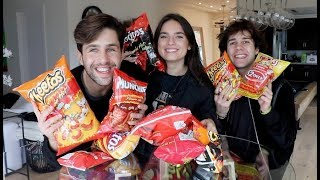 SPICY CHIP TASTE TEST ft DAVID DOBRIK AND NATALIE!! Video