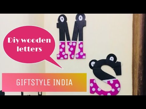 GIFTSTYLE INDIA || DIY UNVARNISHED WOODEN LETTERS|| effortless