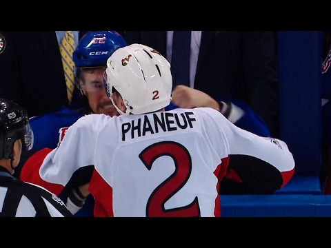 Thumbnail: Phaneuf sends message, scraps with Smith in losing effort for Senators