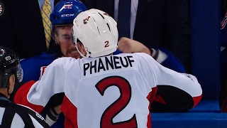Phaneuf sends message, scraps with Smith in losing effort for Senators