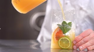 [RECIPE Les vergers Boiron] Grapefruit and lemongrass water