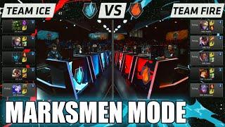 team ice vs team fire   marksmen mode match lol all stars 2015 la   fire vs ice marksman