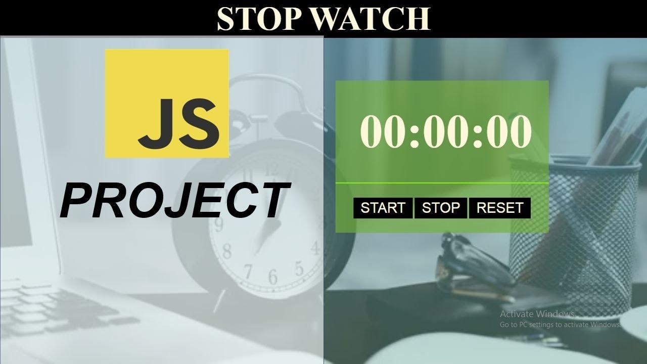 Make Stopwatch using HTML CSS and JavaScript