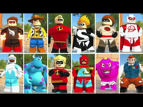 LEGO The Incredibles - A Look at All 113 Playable Characters