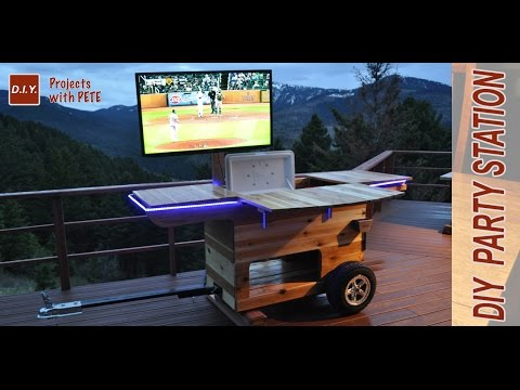 DIY Party Station Complete | Rolling Party Cart