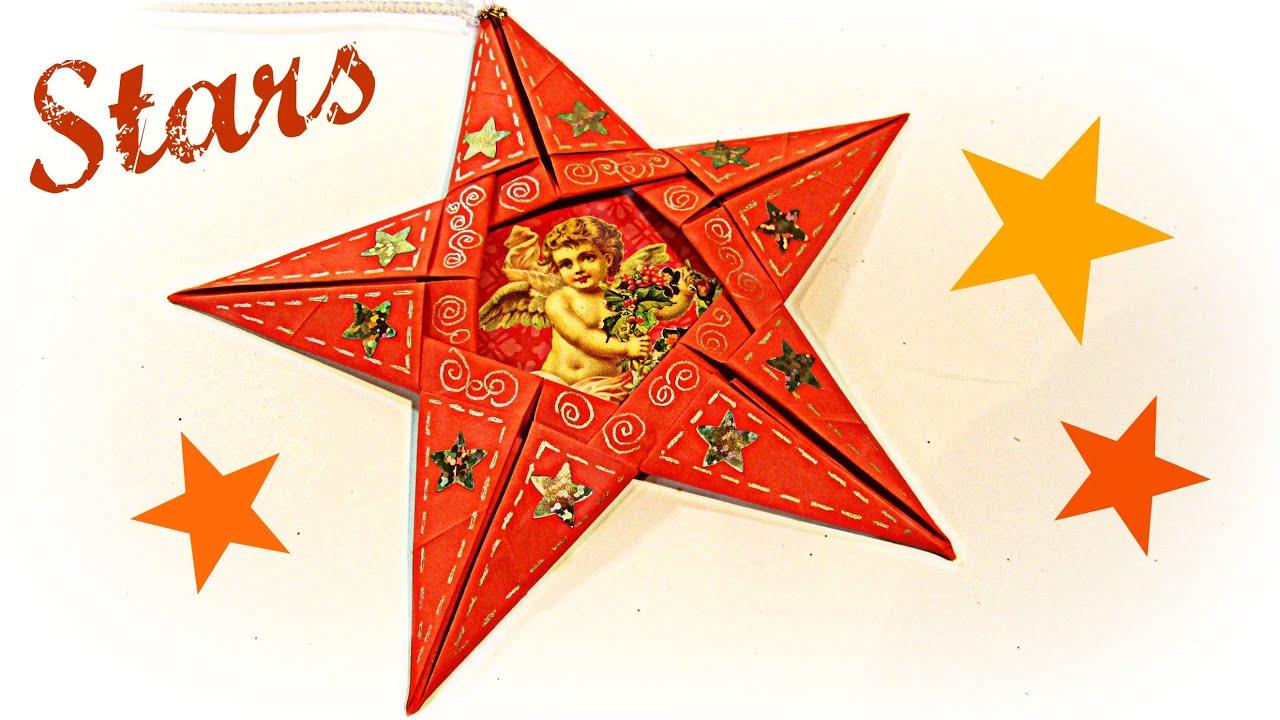 Como hacer estrellas de papel how to make paper stars - Estrellas de papel ...