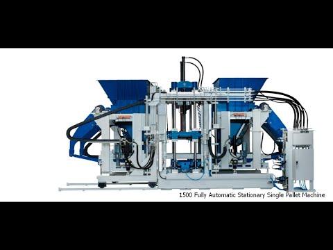 Germany ZENITH 1500 Big Board Fully Automatic Concrete Block Making Machine
