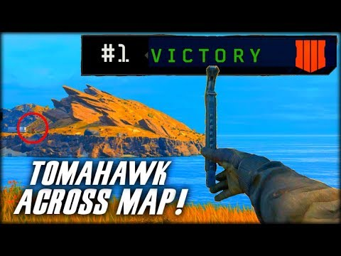 TOMAHAWK CROSS MAP VICTORY!! (Blackout Funny & Epic Bowie Knife Wins)
