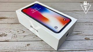 Распаковка iPhone X и первое впечатление