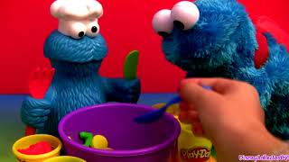 Play Doh Cookie Monster Letter Lunch Learn the ABC Alphabet With Cookie Monster Play Dough